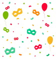 Carnival explosion with confetti and masks vector image