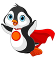 Super Penguin vector image vector image