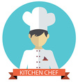 A of kitchen chef vector image
