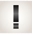 Letter metal ribbon - exclamation mark vector image vector image