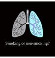 Light smoker The harm of smoking vector image