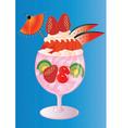 Summer Berry Sundae vector image