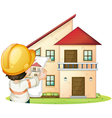 a building and engineer vector image