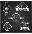 Bakery emblems chalkboard vector image