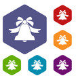 bell icons set vector image