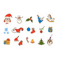 christmas icons elements for your design vector image