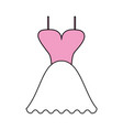 color silhouette image wedding dress fashion vector image