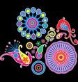 Colorful abstract floral pattern decorative vector image