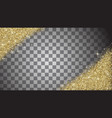 gold glitter abstract background vector image