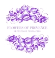 Gzhel style floral garland vector image