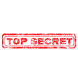 red grunge top secret vector image