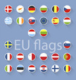 set of european union flags flat design vector image