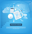 template web banner with copy space financial vector image