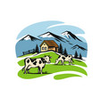village and landscape farm vector image