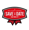 Save the date lettering vintage vector image