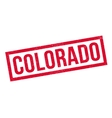 Colorado rubber stamp vector image