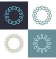 monogram elegant logo icon design vector image vector image