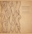 waves ornate background with copy space vector image