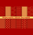 asian seamless pattern of oriental golden ornament vector image