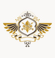 heraldic sign made using vintage elements eagle vector image
