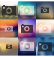 photo icon on blurred background vector image