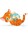 Playful Tubby Kitten vector image