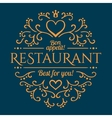 Restaurant design template vector image