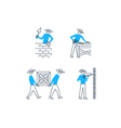 Working men at construction site season works vector image