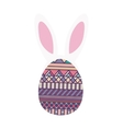 colorful easter egg design with ears bunny vector image