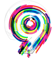 Colorful Number 9 vector image