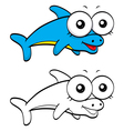 Cartoon dolphin vector image vector image