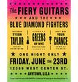 Rainbow concert poster vector image