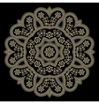 Gold lace doily vector image vector image