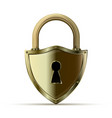 3d realistic closed padlock vector image