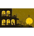Halloween House Background vector image