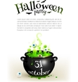 Black witches cauldron with green brew page vector image vector image