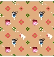 Abstract seamless pattern of cute kawaii style vector image