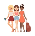 Vacation girls friends vector image