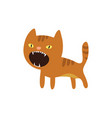 an angry cat icon vector image