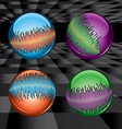 Balls set with waveform vector image