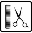 black sign of man hair salon vector image