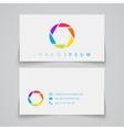 Business card template Camera shutter conceptual vector image
