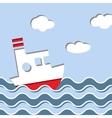 Cruise ship in the ocean vector image