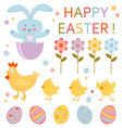 Cute Easter set vector image