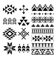Navajo print Aztec pattern Tribal design element vector image