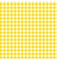 Orange checkered tablecloths patterns vector image