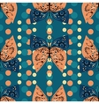 Seamless pattern of decorative butterflies vector image