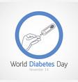 world diabetes day icon vector image