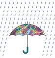Umbrella and rain colorful vector image vector image