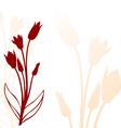 tulip back silhouette vector image